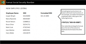 Format Social Security Numbers
