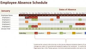 Employee-Absence-Calendar