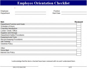 Employee-Orientation-Checklist