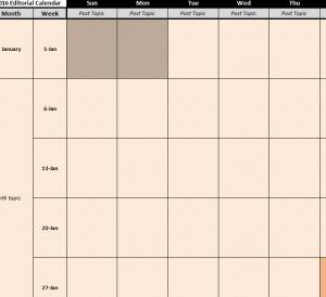 Yearly Social Media Calendar
