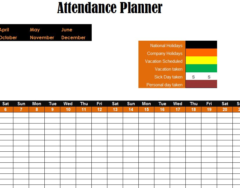 Delightful Using The Attendance Planner
