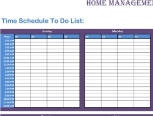 Home Management Inventory Sheet