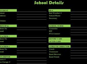 school details template