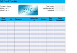 Gift Card Tracker