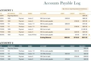 Accounts Payable Log