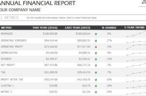 financial reports templates