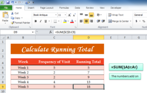Calculate Running Total (ET)