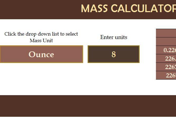 Excel Calculator Template