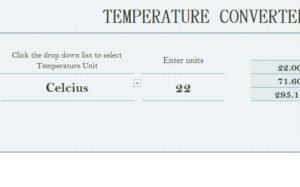 Temperature Converter Sheet