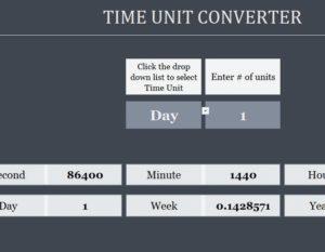 Time Converter Spreadsheet