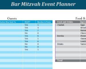 Bar Mitzvah Event Planner