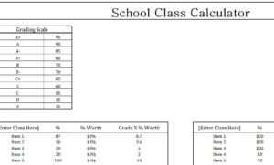 Class Grade Calculator