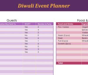 Diwali Event Planner