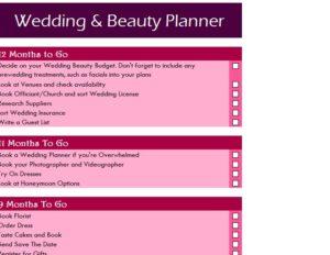 Wedding & Beauty Planner