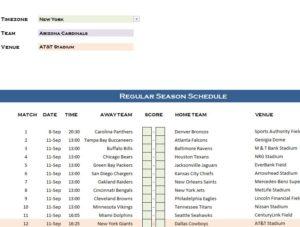 NFL 50 Schedule