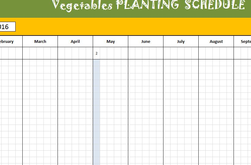 vegetable planting schedule