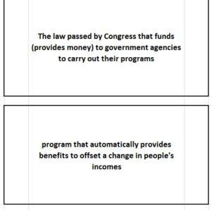 Government Economics Flashcards