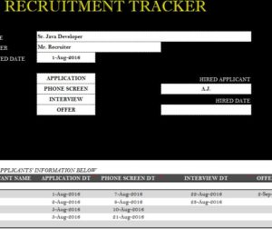 Recruitment Tracker Sheet