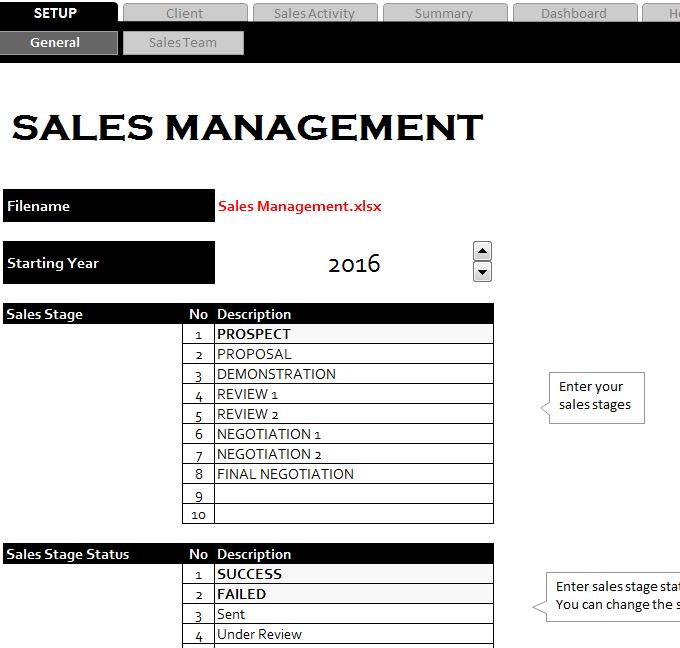 Sales management sheet for Sales manager action plan template