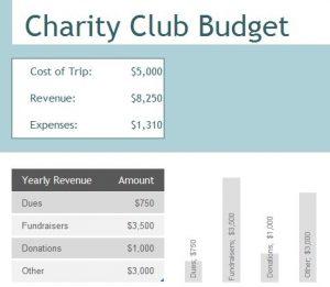 Charity Club Budget