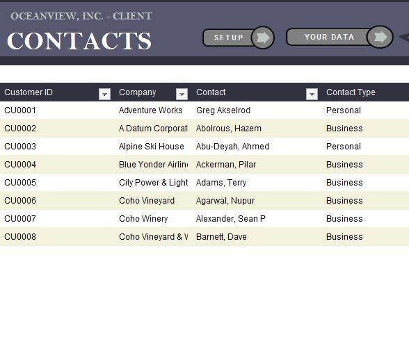 Client Contact List