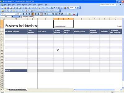 business debt tracker spreadsheet template. Black Bedroom Furniture Sets. Home Design Ideas