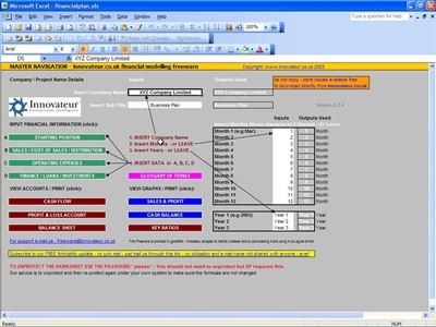 Financial Modelling Excel Spreadsheet Template