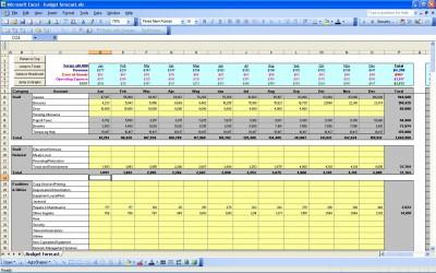 P L Statement Budget Forecast Excel Template P L Statements