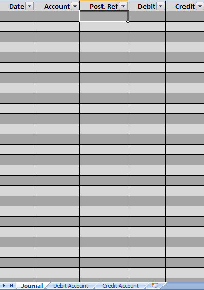 free excel accounting template