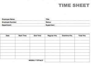 free blank printable time card