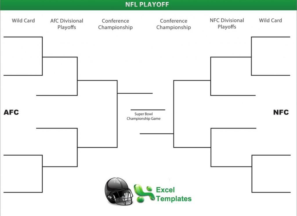 nfl playoff bracket template