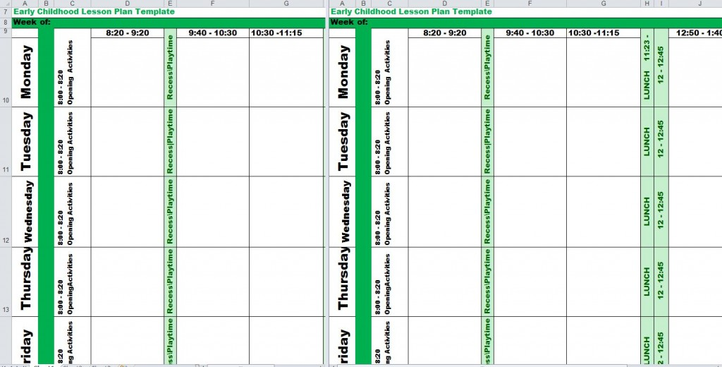 Early Childhood Lesson Plan Template from ExcelTemplates.com