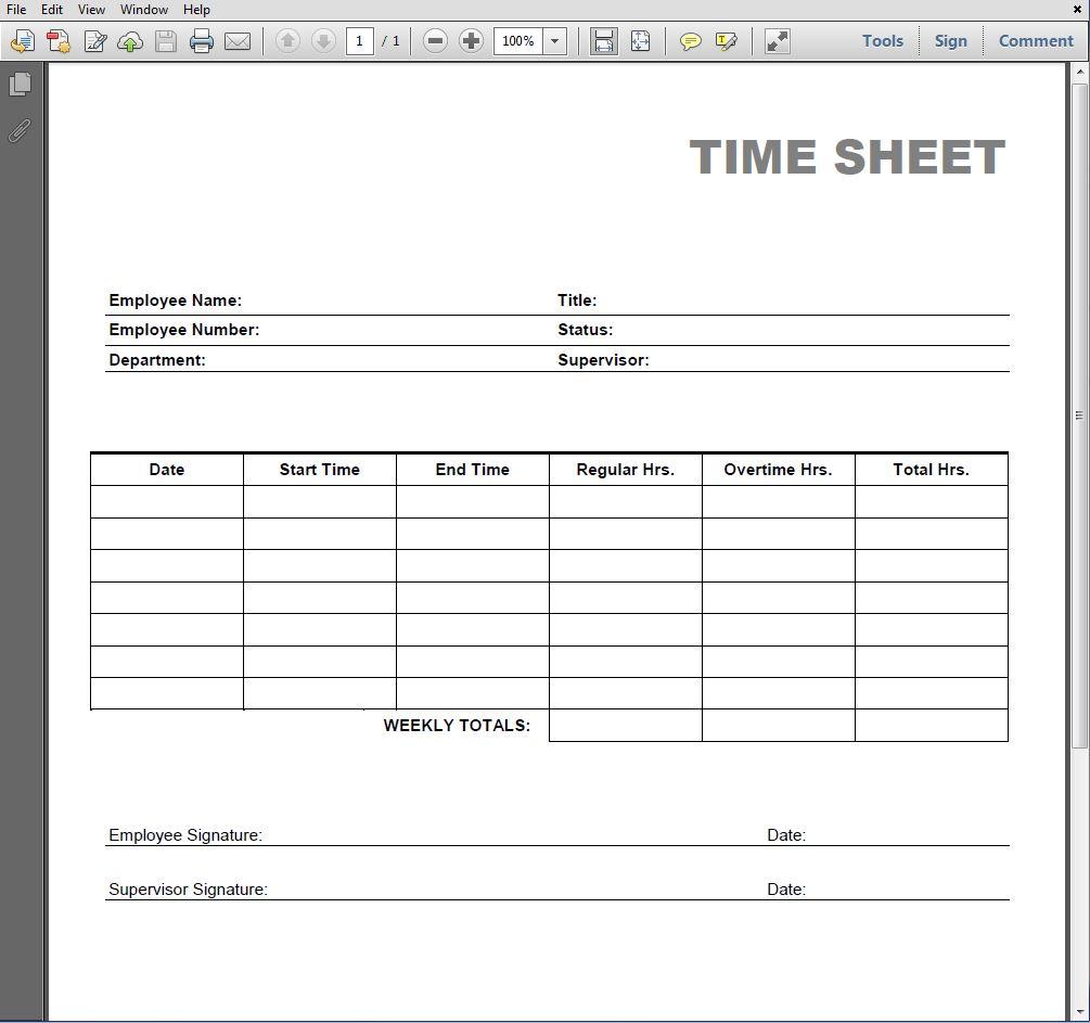 printable blank pdf time card