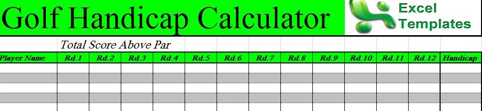 golf handicap calculator excel