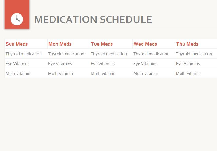 Medication Schedule screenshot