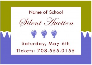 Screenshot of the Silent Auction Template