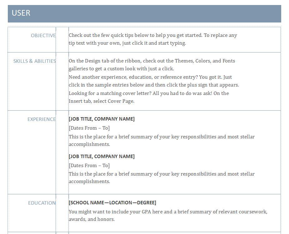 Free Basic Resume Template