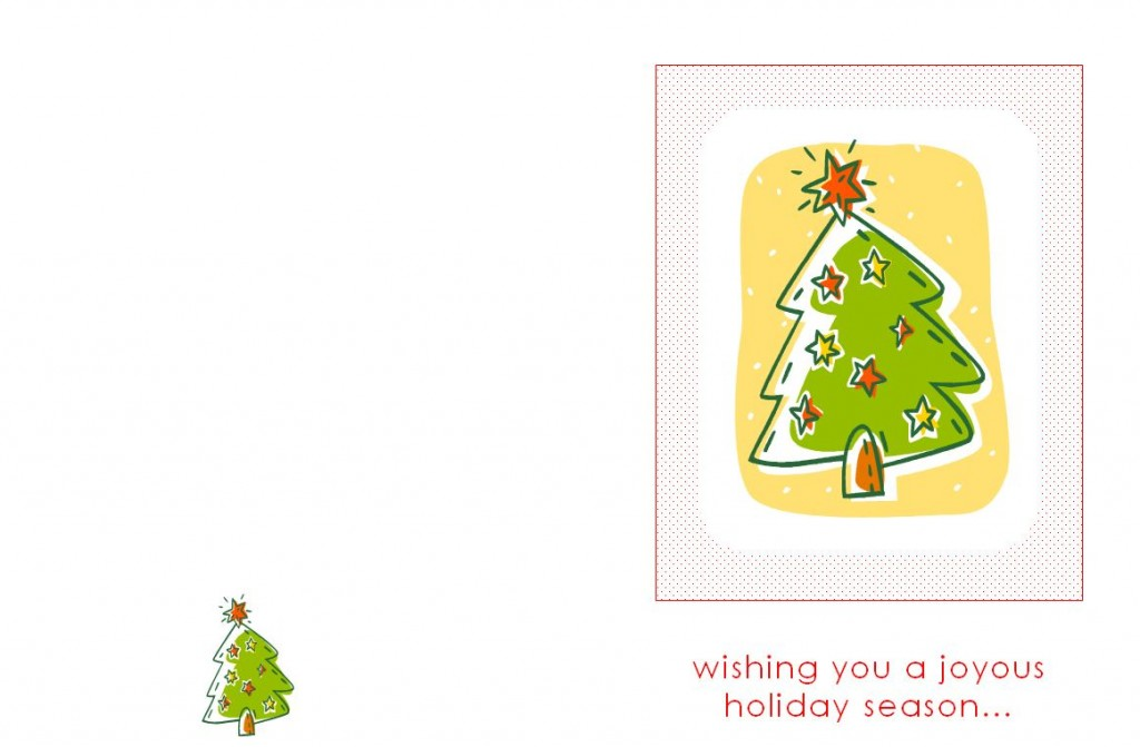 Free Holiday Greeting Card Template