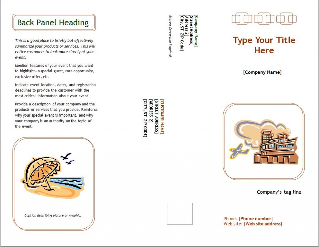 Photo of the Marketing Brochure Template