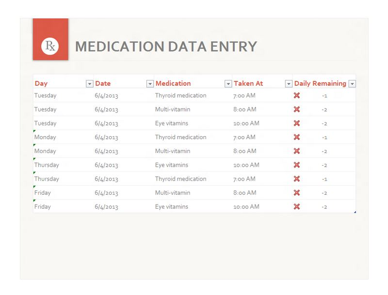 Free Medication Schedule Template
