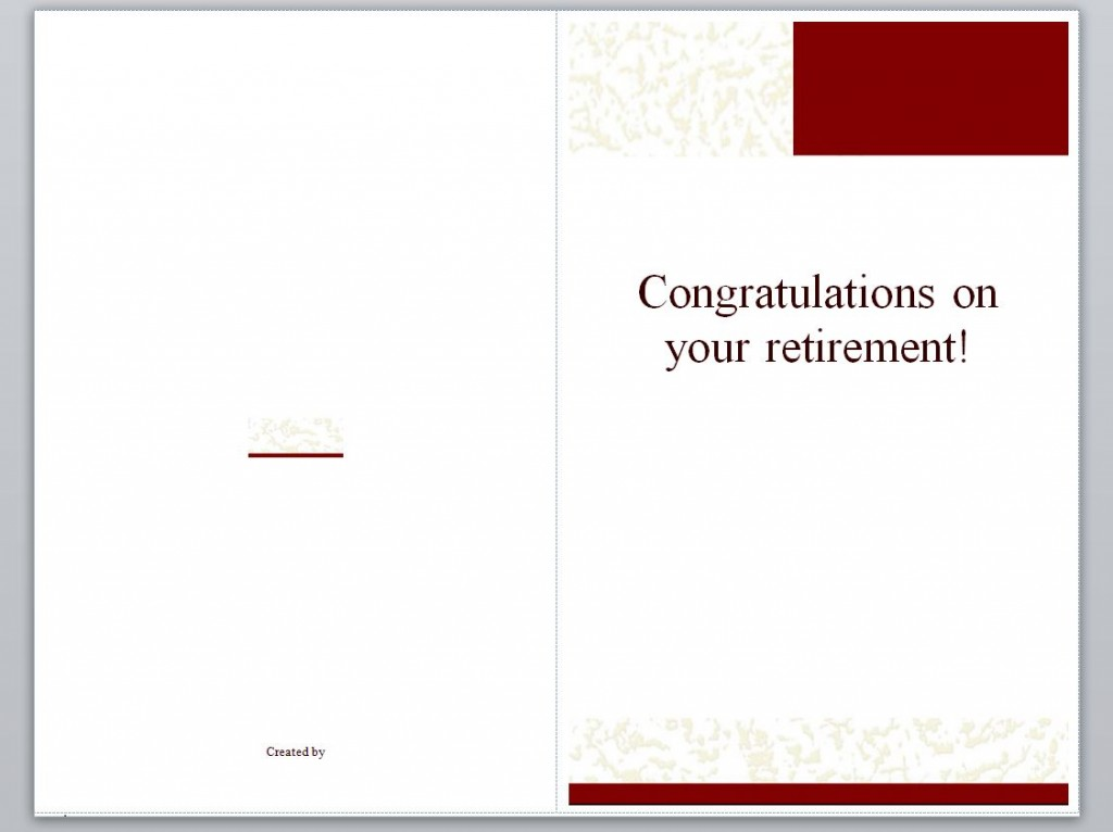 Free Retirement Card Template