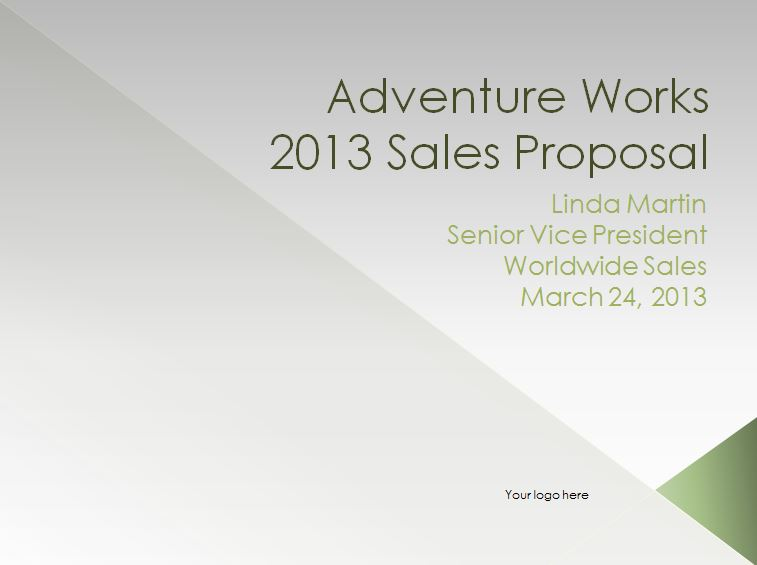 The Sales Proposal Template