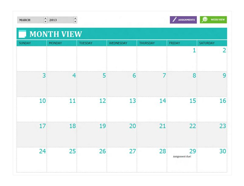 Free Student Assignment Planner