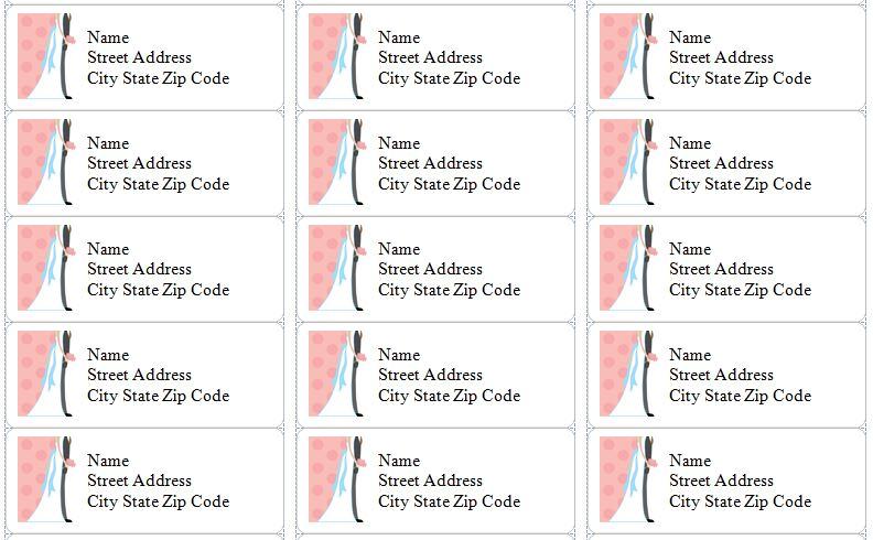 Free Wedding Address Labels