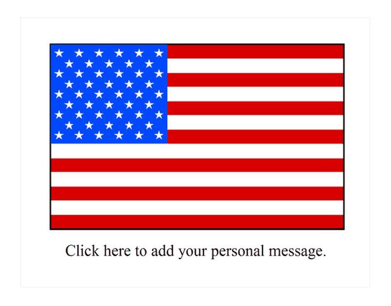 American Flag Window Decal Template