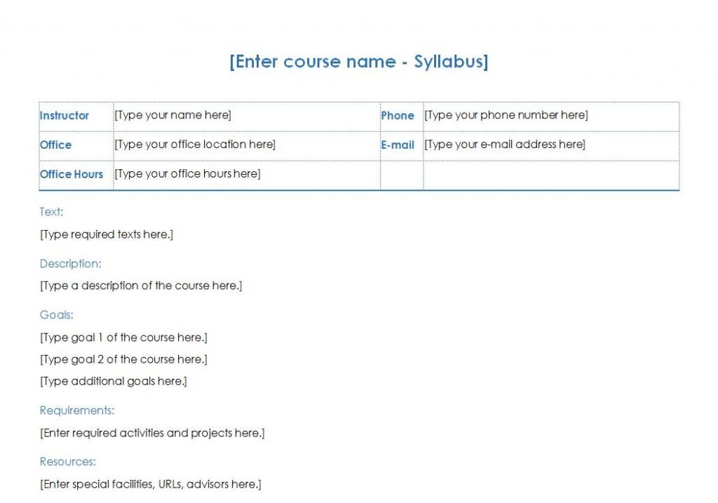 Free Course Syllabus