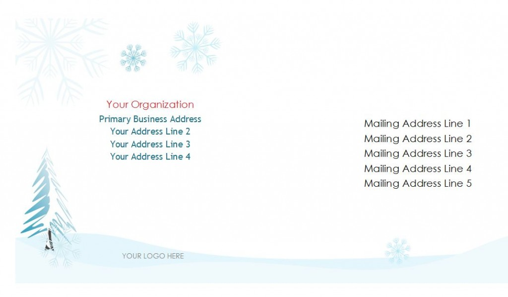 Free holiday envelopes