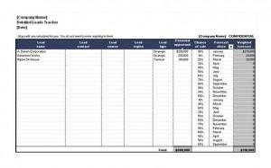 Free Sales Lead Sheet Template