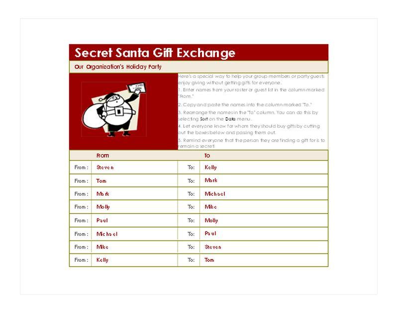 Free Secret Santa Generator