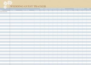 Free Wedding Guest List Spreadsheet